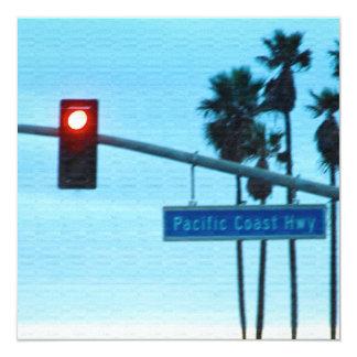 Pacific Coast Highway 1 Sign California Beach Sky Invitations