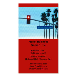 Pacific Coast Highway 1 Sign California Beach Sky Pack Of Standard Business Cards