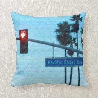 Pacific Coast Highway 1 Sign | Huntington Beach CA Cushion