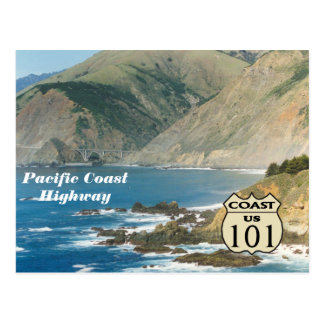 Pacific Coast Highway Postcard