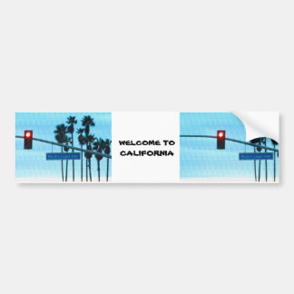 Pacific Coast Highway Sign California Beach Sky Bumper Sticker
