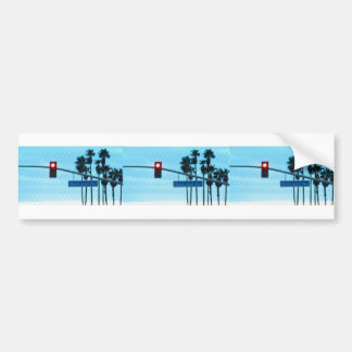 Pacific Coast Highway Sign California Beach Sky Bumper Sticker