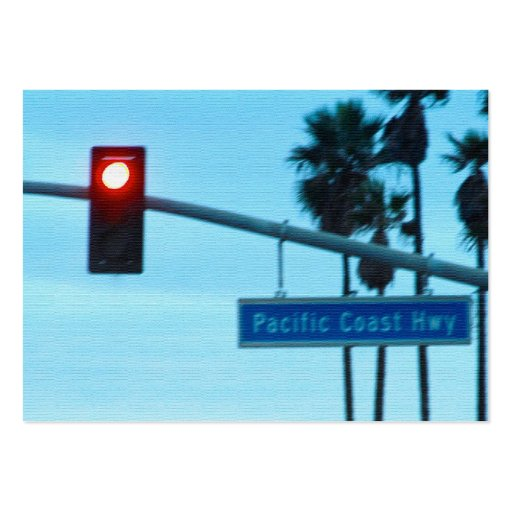Pacific Coast Highway Sign California Beach Sky Business Card Template