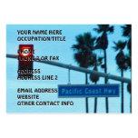 Pacific Coast Highway Sign California Beach Sky Business Card