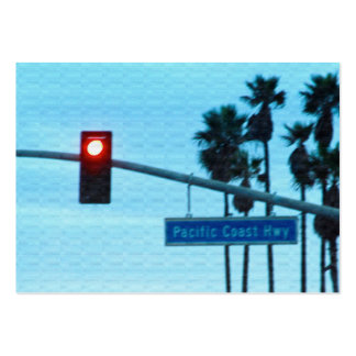 Pacific Coast Highway Sign California Beach Sky Business Card Template