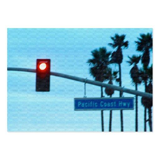 Pacific Coast Highway Sign California Beach Sky Business Card Templates