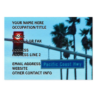Pacific Coast Highway Sign California Beach Sky Pack Of Chubby Business Cards