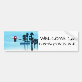 Pacific Coast Hwy | Huntington Beach California Bumper Sticker