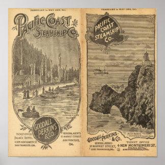 Pacific Coast Steamship Company 2 Poster