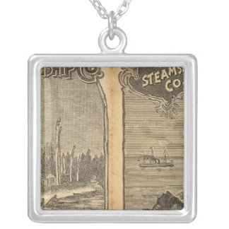 Pacific Coast Steamship Company 2 Silver Plated Necklace
