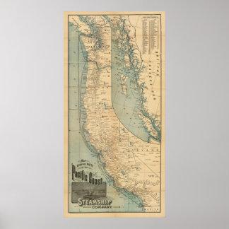 Pacific Coast Steamship Company Poster