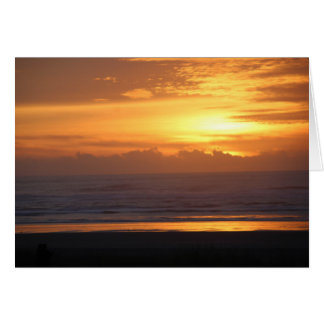Pacific Coast Sunset (blank inside) Card