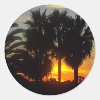 Pacific Coast Sunset Classic Round Sticker