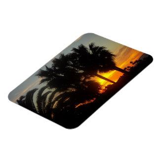 Pacific Coast Sunset Rectangular Photo Magnet