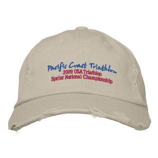 Pacific Coast Triathlon Embroidered Baseball Cap
