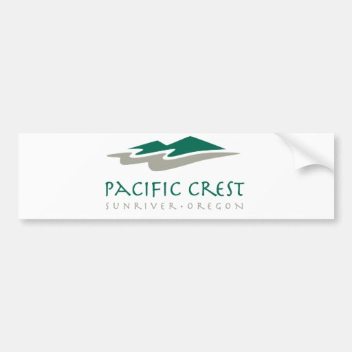 Pacific Crest Car Bumper Sticker