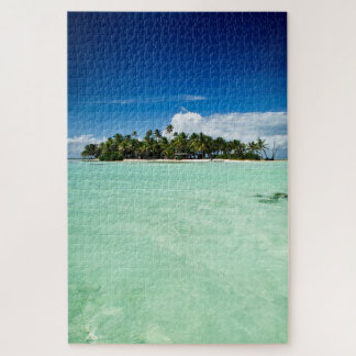 Pacific desert island with palm trees jigsaw puzzle