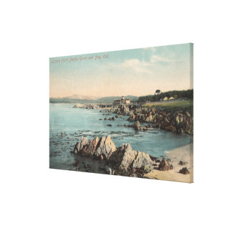 Pacific Grove, CA - Lovers Point, Pacific Gallery Wrapped Canvas