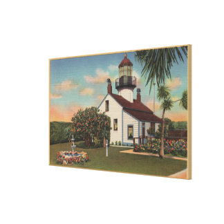 Pacific Grove, CA - Point Pinos Light House View Canvas Print