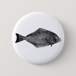 Pacific Halibut Logo 6 Cm Round Badge