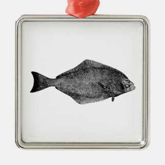 Pacific Halibut Logo Christmas Ornament