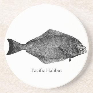 Pacific Halibut Logo Coasters