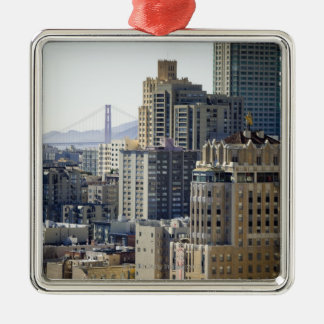 Pacific Heights and Golden Gate Bridge Christmas Ornament