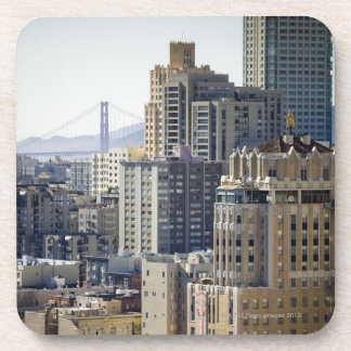 Pacific Heights and Golden Gate Bridge Drink Coaster