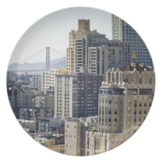 Pacific Heights and Golden Gate Bridge Plate