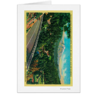 Pacific Highway with Mt. Shasta in Distance Card