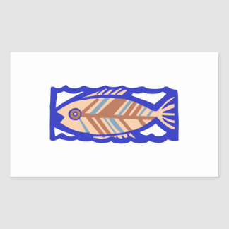 PACIFIC ISLAND FISH RECTANGULAR STICKER