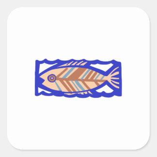PACIFIC ISLAND FISH SQUARE STICKER