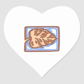 PACIFIC ISLAND LEAF HEART STICKER