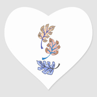 PACIFIC ISLAND LEAVES HEART STICKER