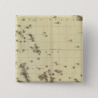 Pacific islands 15 cm square badge