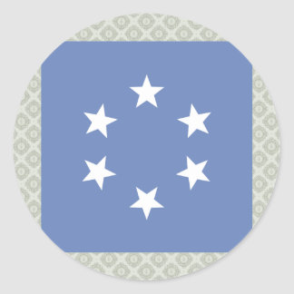 Pacific Islands High quality Flag Round Sticker
