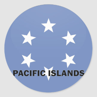 Pacific Islands Roundel quality Flag Sticker