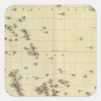 Pacific islands square sticker