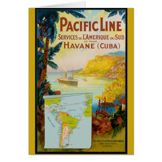 Pacific Line Vintage Travel Card