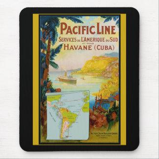 Pacific Line Vintage Travel Mouse Mat