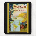 Pacific Line Vintage Travel Mouse Pad