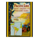 Pacific Line Vintage Travel Postcard