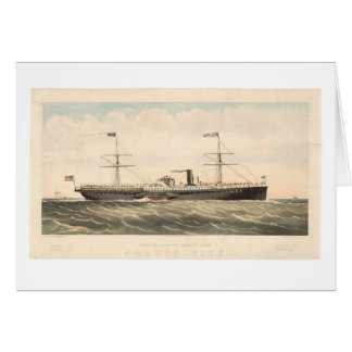 Pacific Mail Steam Ship Co's Golden City (0640A) Greeting Card
