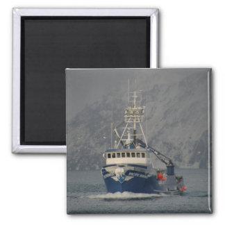 Pacific Mariner, Crab Boat in Dutch Harbor, Alaska Square Magnet