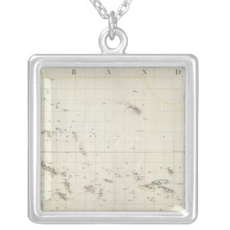 Pacific North American Map Silver Plated Necklace