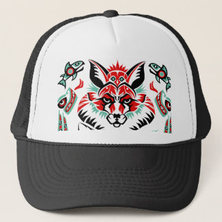 Pacific North Coastal Native American Indian Fox Trucker Hat