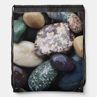 Pacific Northwest USA, Colorful river rocks Drawstring Bag