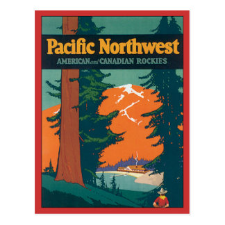 Pacific Northwest Vintage Postcard