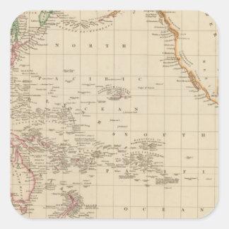 Pacific Ocean 2 Square Sticker