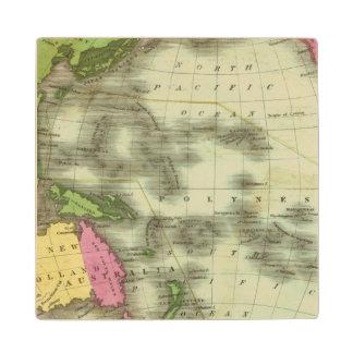 Pacific Ocean 6 Maple Wood Coaster